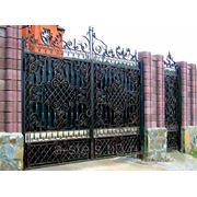 Кованые ворота и калитка модель 2 фото