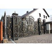 Кованые ворота Викинги фото