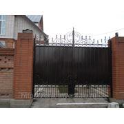Ворота кованные фото