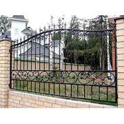Забор и ворота кованые фото