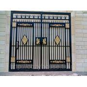 Кованые ворота B011 фото