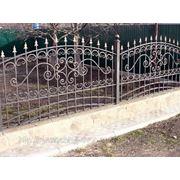 Забор кованый №2 фото