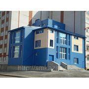 "Металлический сайдинг ""Блок-хауз"" Синий фото"