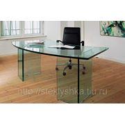 Стеклянный стол для руководителя фото