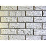 Фасадные панели NAILITE КИРПИЧ (США )COLONIAL WHITE фото