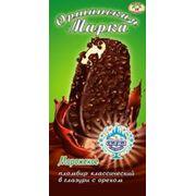 Мороженое пломбир с ароматом ванили в шоколадно-ореховой глазури Оршанская марка фото