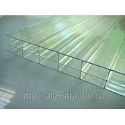 Поликарбонат сотовый СПК 6000/2100/4 б/ц (620 гр/м2)прозрачный фото