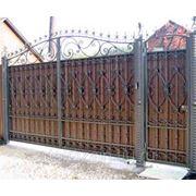 Ворота из поликарбоната фото