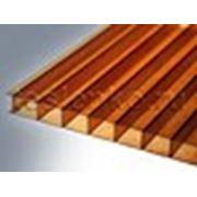 Сотовый поликарбонат Novattro (коричневый), толщ. 4мм, 2,1*12м фото