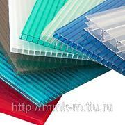 Сотовый поликарбонат Sellex 6х2100х6000 мм. прозрачный плотность 1,3 кг/м. кв. фото