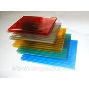 Сотовый поликарбонат 6 мм, цветной фото