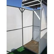 Летний Душ (кабина) металлический для дачи Престиж Бак: 150 литров. С подогревом и без. фото