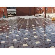 Тротуарная плитка «Брусчатка с кубиком», толщина 3см и 4см фото
