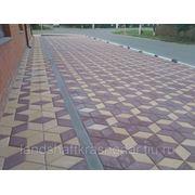 Тротуарная плитка Ромб 200х200х60 фото