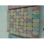 Тротуарная плитка вибропрессование Катушка, Змейка, Соты и Кирпичик синий фото
