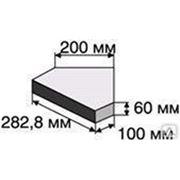 Тиара 282.8х240х60 1 Д.6 c промывным слоем гранит на сером цементе красная фото