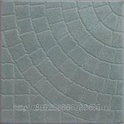 Тротуарная плитка 400х400х50 «Паутинка» цвет серый фото