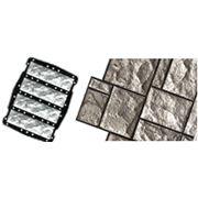 Пластиковые формы для искусственного камня Камень облицовочный (7.6х24.8)х4 фото