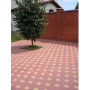 Тротуарная плитка «Квадрат с кубиком», 3см и 4см фото