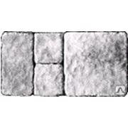 Ретро комплект гранит гладкий на белом цементе белая фото