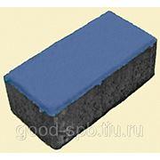 """Тротуарная плитка """"Брусчатка"""" 80мм, синий фото"""