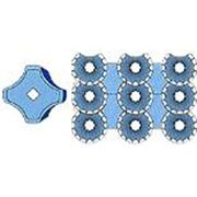 Пластиковые формы для тротуарной плитки купить Коло крест (25х25х4.5 см.) фото