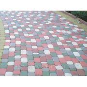 Тротуарная плитка «Брук» 4.5 см. цветной фото