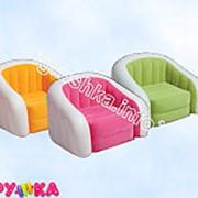 Мебель надувная кресло велюровое двухцветное 68571 фото