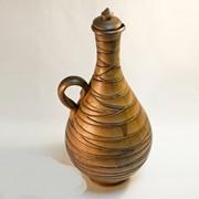 Глиняная бутылка фото