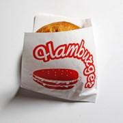 """Пакет """"уголок"""" для гамбургера с надписью фото"""