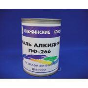 ЭМАЛЬ Снежинские краски ПФ-266 желто-коричневый 0,9кг фото