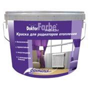 Краска для радиаторов отопления «Doktor Farbe» акриловая водно-дисперсионная белоснежная 1,2кг.