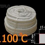 Термоизоляционный шнур «Керамический шнур». Уплотнитель дверцы котла (+1100°С) 15х15 мм фото