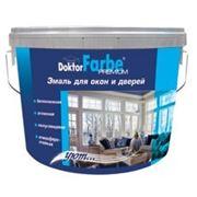 Эмаль для окон и дверей водно-дисперсионная белоснежная «Doctor Farber» 2,8кг. фото