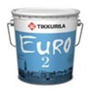 """Краска """"Тиккурила"""" для стен и потолков в/эм """"Евро 2"""" 9л фото"""