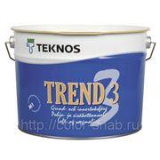 ТРЕНД 3 ТЕКНОС (TREND 3 TEKNOS), Белая, матовая, 9л - Краска для внутренних работ, матовая фото