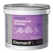 Краска для ванной и кухни ALPA ELEMENT L-100, 10 л фото