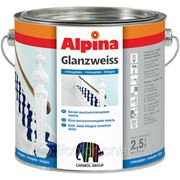 Alpina Glanzweiss (белая), 2,5л - Универсальная эмаль для наружных и внутренних работ. фото