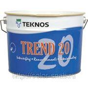 ТРЕНД 20 ТЕКНОС (TREND 20 TEKNOS), Белая, матовая, 9л - Краска для внутренних работ, матовая фото