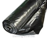 Пленка полиэтиленовая черная 120мкр рукав 1500мм*200м фото