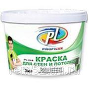 Краска Профилюкс PL-04А акриловая белая для потолков и стен (3кг) фото