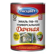"""Эмаль """"Расцвет Дачная"""" универсальная ПФ-115 0,9 кг. (синяя) фото"""