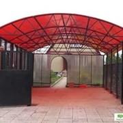Сотовый поликарбонат 4,6,8,10 мм Красный. Доставка фото