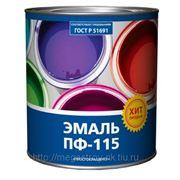 """Эмаль ПФ-115 """"Простокрашено"""" 6 кг. (белая, голубая, серая, черная) фото"""