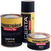 Эмаль термостойкая БЕЛАЯ (650*С) «ЦЕРТА» 0,4кг. фото