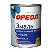 """Эмаль """"Ореол"""" алкидная для радиаторов 0,5 кг. фото"""
