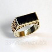 Перстень с ониксом КСЗ 022 фото