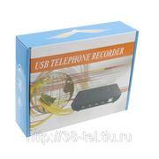 Устройство записи телефонных переговоров на 2 телефонные линии с подключением к ПК через USB фото