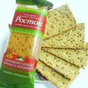 """Хлебцы с перцем и зеленью """"РОСТОК"""" из пророщенных зёрен пшеницы фото"""