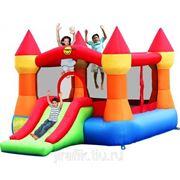 Happy Hop 9017N Батут надувной для детей Замок с горкой